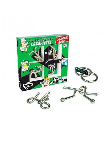 coffret 4 casse-tête métal professeur puzzle