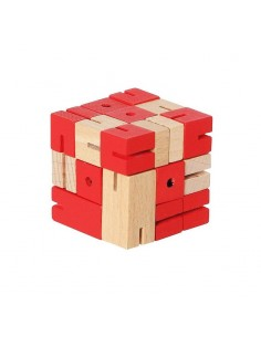 casse tète en bois cube serpent robot