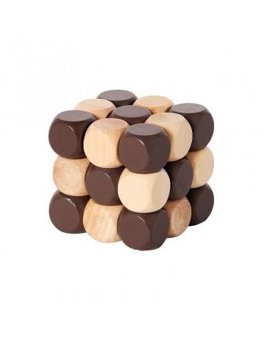 casse tète en bois cube serpent