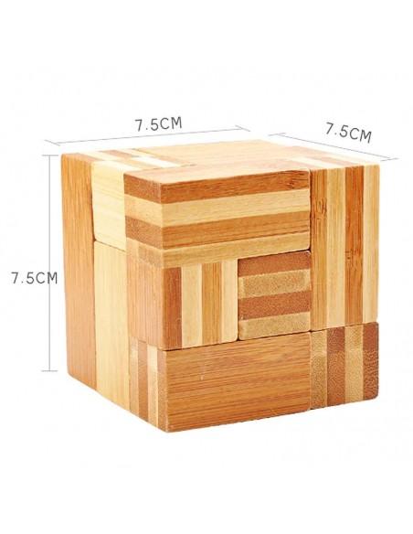 casse tête en bambou cube