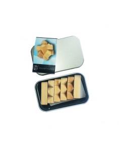 casse-tête en bois dans une boite en métal