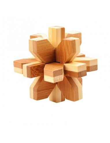 casse tête en bambou snowflake