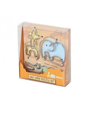 Casse-tête enfants en métal 3 animaux...