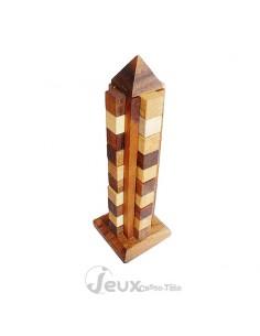 casse-tête en bois la tour de Babel