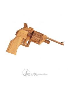 casse-tête en bois pistolet