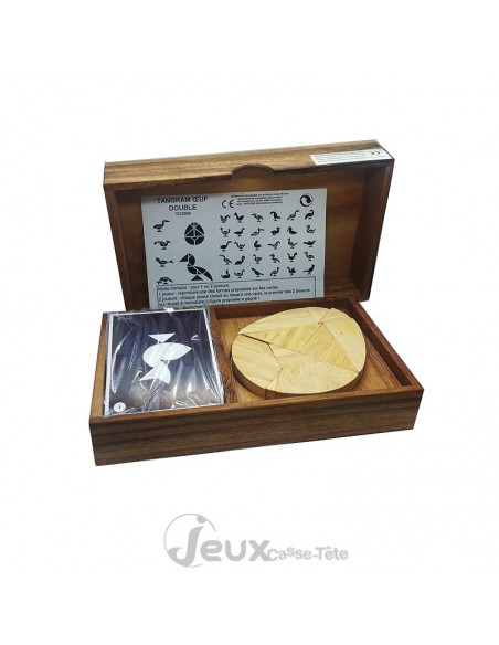 tangram double oeuf casse-tête en bois