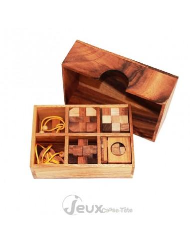 Coffret de 6 casse-tête en bois