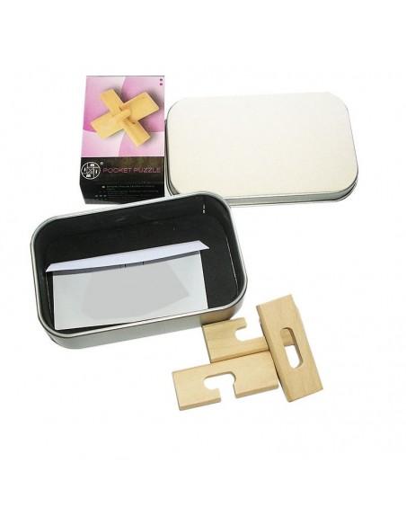 coffret 6 pocket puzzle en bois
