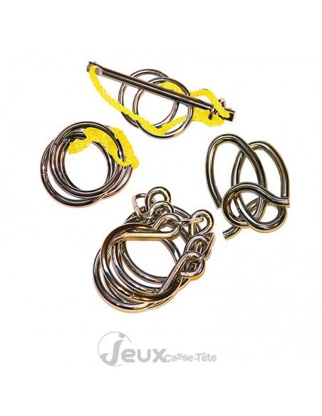 Coffret 4 casse-têtes en métal Eureka! 3d