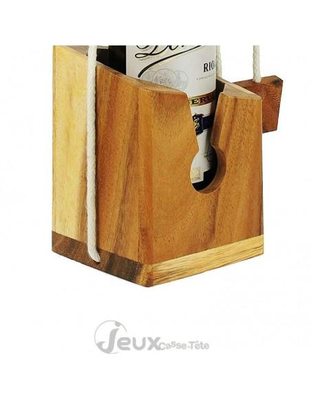 casse tête bouteille en bois