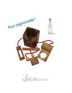 casse-tête en bois mini bouteille