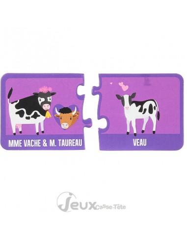 Puzzle carte éducatives les animaux