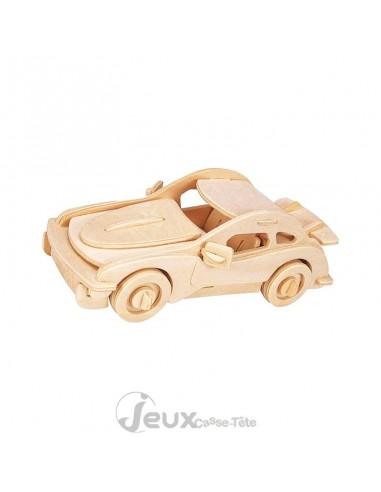 Puzzle 3d  en bois voiture de sport 43 pièces