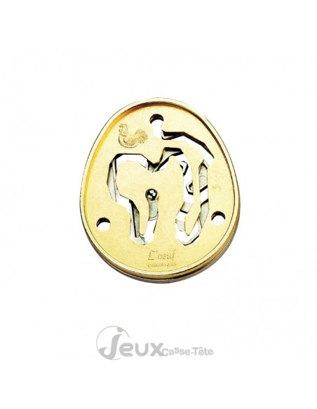 Cast L'oeuf casse tête en métal Collection HANAYAMA