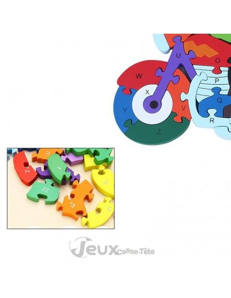 puzzle 3d éducatif MOTO Alphabet et nombres