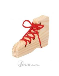 casse-tête en bois lacet chaussure