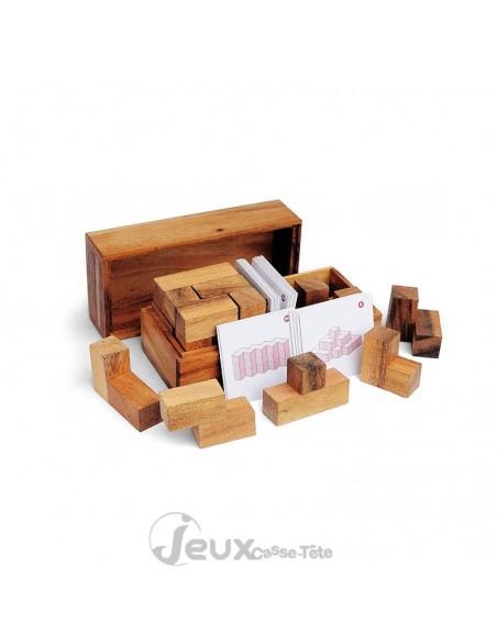 Double Tetris casse-tête en bois avec jeu de carte