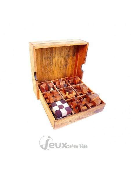 Coffret de 9 casse-tête en bois