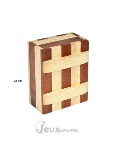 Boîte secrète en bois zèbre série Leonardo