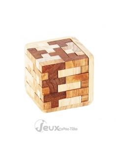 casse tète en bois cube tetris