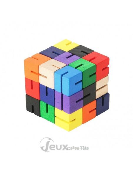 casse tète en bois cube sudoku