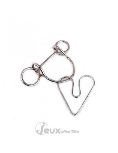 Casse-tête en métal Libère le cœur