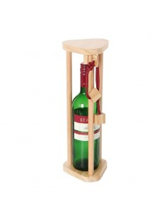 casse-tête bouteille en bois