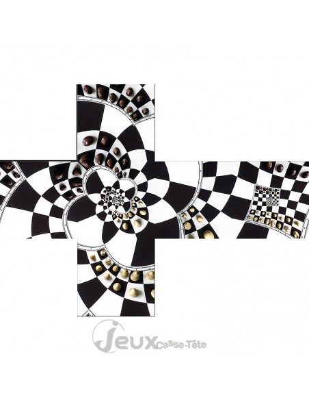 Casse-tête v-cube chessboard