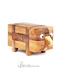 Casse-tête en bois Le cochon