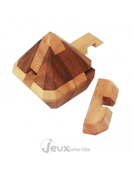 Casse-tête en bois pointe de Diamant