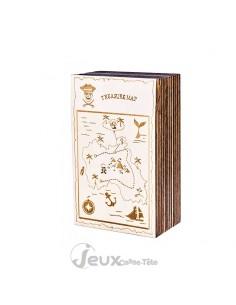 Casse-tête boite secrète carte aux trésors
