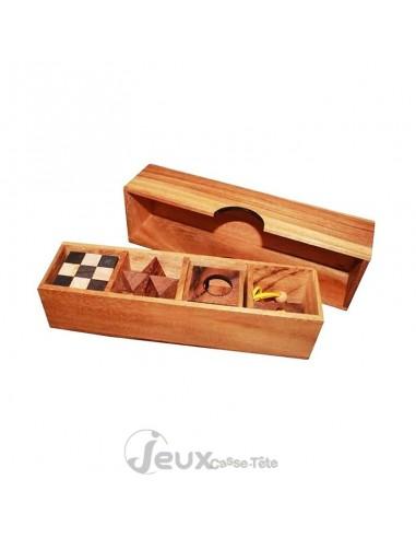 Coffret de 4 casse-tête en bois