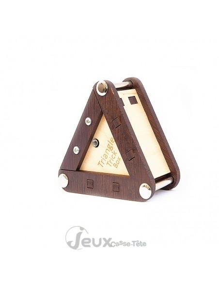 Boîte secrète en bois Triangle Trick Box