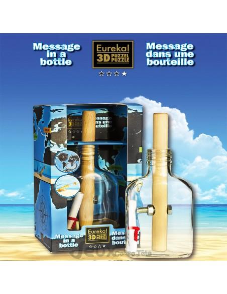 casse-tête message dans une bouteille