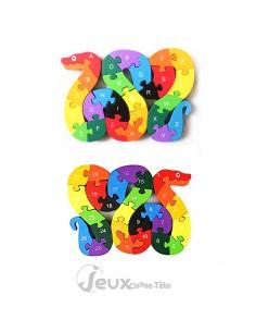 puzzle 3d éducatif serpent Alphabet et nombres