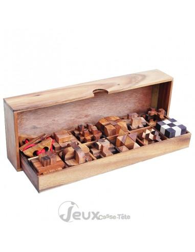 coffret de 12 casse-tête en bois