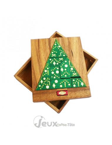 Casse-tête en bois Le sapin de Noel et son cadeau