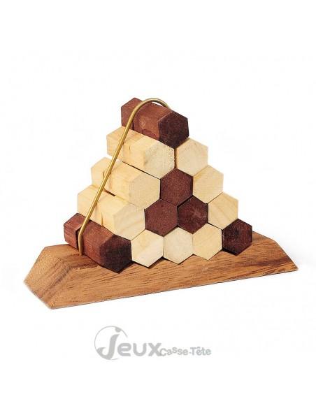 Casse tête en bois Le nid d'abeilles 13 pièces