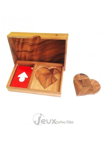 Tangram double cœur 1 à 2 joueurs