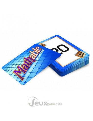 Mathable Quattro jeu  de carte mathématique