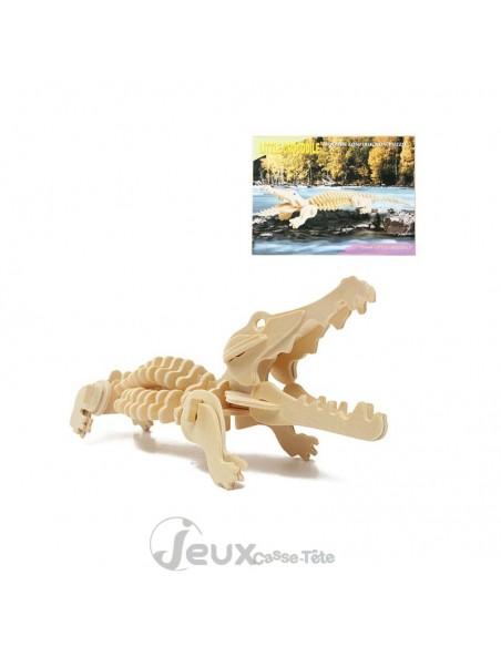 Puzzle 3d en bois Crocodile
