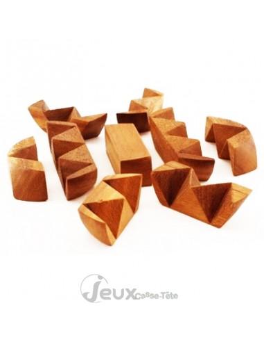 Casse tête en bois l'œuf 9 pièces à assembler