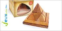 Solution casse-tête en bois pyramide 9 pièces