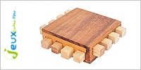 Solution casse-tête en bois Le processeur
