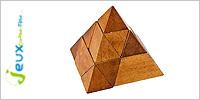 Solution casse-tête en bois Pyramide